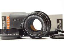 FedEx [Mint w/ Hood] Pentax SMC PENTAX-M 50mm f1.7 Pentax K Mount Lens JAPAN K89