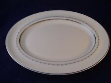 "Royal Doulton Tiara Oval Serving Platter 13"" England H. 4915 Retired Bone China"