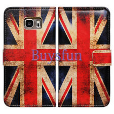 Bcov Retro Union Jack Flag Leather Wallet Cover Case For Samsung Galaxy S7 Edge