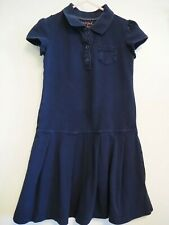 Cat & Jack Navy Girls School Uniform Polo Dress 4/5 Xs