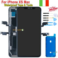Schermo Display LCD Per iPhone XS MAX OLED Touch Screen Digitizer Nero Frame GLS
