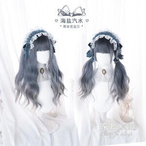 Japanese Daily Princess Cospaly Harajuku Lolita Wig Long curly hair Gradient GF7