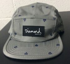 Diamond Supply Co Gray 5 Panel Hat W/Strap *SEE PICS*