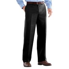 ++ NEW 32x30 Jet Black Easy Care Flat Straigh Fit Khakis by Croft & Barrow