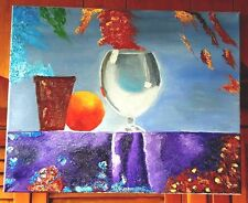 Original-One of a Kind- Oil on Canvas Painting-Still Life- Signed-COA-Listed *