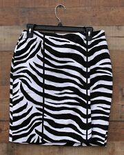 White House Black Market Zebra Print Skirt NEW Size 6 Lined