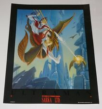 Vintage Ultraman Litho Poster by Sarka Ltd 1993