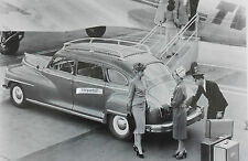 """1947 Desoto with roof rack 12 X 18"""" Black & White Picture"""
