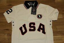 Ralph Lauren Men White Shirt USA Big Pony Large L Custom-Fit RL Olympic