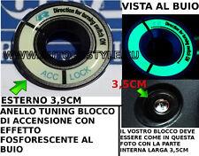 ANELLO NERO TUNING BLOCCO ACCENSIONE EFFETTO FOSFORESCENTE VW GOLF POLO PASSAT