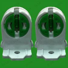 T5 Base Fluorescent & LED Tube Lamp Holder Socket Snap-In Or Slide-On Pack Qty 2