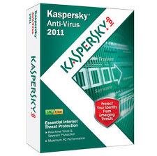 Kaspersky Lab Anti-Virus 2011 (Windows 7, Vista & Windows XP) Works Notebook NEW