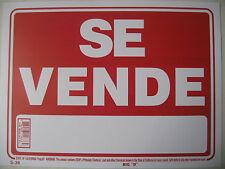 "Se Vende Buisness sign 9""x12"" Red flexible plastic 12636"