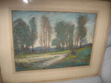 CLIFFORD SILSBY LISTED EARLY CALIFORNIA ARTIST PASTELS LANDSCAPE PAINTING SIGNED