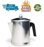 Stovetop Percolator Coffee Pot Camping Heavy Duty Aluminum 9 Cup