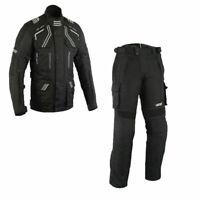 Winter Motorrad Jacke und hose biker Motorrad Wasserdicht Textil Kombi Schwarz