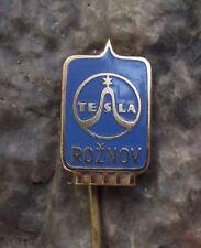 Tesla Roznov Sine Wave Logo Radio Television Electronic Vacuum Tube Pin Badge