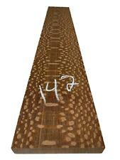 "Leopardwood Lumber Board/Cutting Board Block/Wood Blank 32""x5""x15/16"", #142"