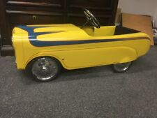 Vintage Original Custom Pedal Car Yellow