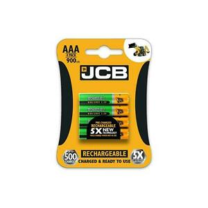 JCB AAA 900mAh RECHARGEABLE BATTERIES NIMH PRECHARGED BATTERY LONG LIFE