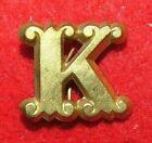 "Original Civil War  Zouave Company Letter ""K"" Cap Insignia-Non Dug"