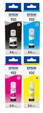 Set 4 Original Epson Tinte Patronen 102 EcoTank ET 2700 2750 2756 3700 3750 4750
