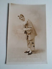 Old Vintage RP Postcard - 5184 A McAllister, Comedian Dressed as Pierrot Clown