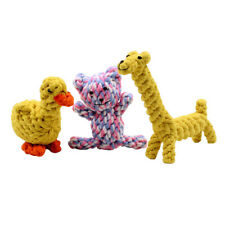New listing Dog toy, bite-resistant duck tooth cleaning cotton rope chewing giraffe toy