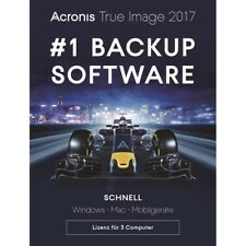 Acronis True Image 2017 / 2018* 3-PC Backup+Recovery Dauerlizenz / Deutsch / KEY