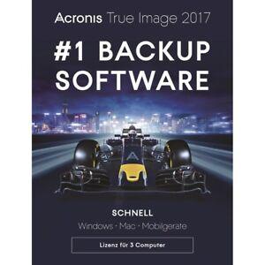 Acronis True Image 2017 3-PC Backup+Recovery Dauerlizenz / Deutsch / KEY