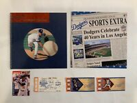 Lot of Los Angeles Dodgers Collectibles Ephemera Season Tickets Magazines Cards
