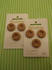 Vintage Beutron Leather-Look Buttons Craft Sew Handbag Scrapbook Jewelry knit