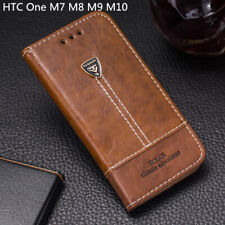 For HTC One M7 M8 M9 M10 Phone Case Cover PU Leather Flip Wallet Card Slot Glass