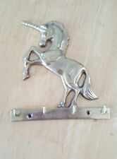 Unicorn Key Holder Brass No Screws