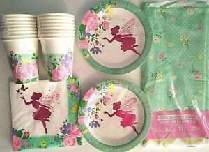 FLORAL FAIRY SPARKLE - CEG Birthday Party Supply Set Pack Kit for 16
