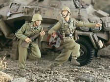 "Verlinden 1/35 ""Running"" German Soldiers DAK Afrika Korps WWII (2 Figures) 2304"