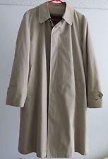 Botany 500 Khaki Lined Insulated Trench Coat Macintosh Raincoat 42 Regular NEW