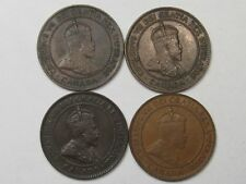 4 VF/XF Canadian Large Cent Coins (Full/Near Full Crown): 1902 (2), 1904 & 1909.