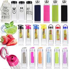 800ml Sports Fruit Infuser Water Bottle Infusion BPA Free Detox Drinks Juice Cup