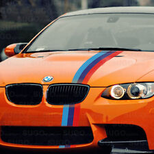 "48"" BMW M-Power 3-Colored Racing Body Stripe Decal Custom DIY Sticker 4ft"