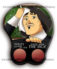 3D Mouse Pad René Descartes Wrist Anime Oppai Buttons Ergonomic Memes