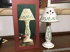 "Lenox ""Holiday Candlestick Lamp"" Votive Candle Holder (Nib)"