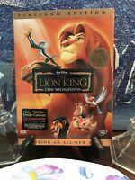 Disney's The Lion King DVD Platinum Edition 2 Disc Like New Slipcover Included