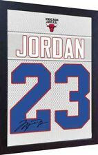 Michael Jordan Chicago Bulls signed autograph Framed 100% Cotton Canvas print