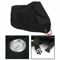 3XL Housse Bâche de Moto Couverture Etanche Respirable UV Pluie Protection/Noir