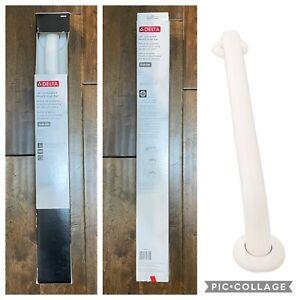 "DELTA 24"" White Safety Grab Bar Concealed Mount ADA Compliant 1.5"" Diameter"