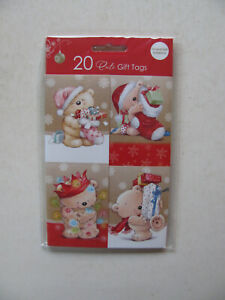 Christmas Gift Tags Pack Cute Teddy Bear Xmas Presents Gifts