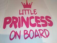 Little Princess On Board, Autocollant Voiture, Pare Choc, Autocollant, Fenêtre Autocollant, Voiture Autocollant