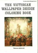 Victorian Wallpapers Design Colouring Book by Ramona Jablonski (Hardback, 1981)