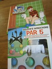 Lot 2 Toilet Golf Gag Gift for him Bathroom Mini Golf & Windchime Par 5 F2